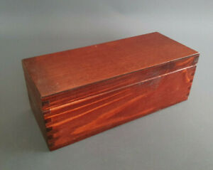 Red Handmade Storage Box Tea Bags 3 Removable Compartments Jewellery Mahogany