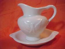 VINTAGE HULL PITCHER & BASIN WHITE EAGLE F-91 SET ESTATE HULL POTTERY ESTATE