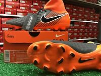 Nike Obra 2 Academy DF FG Soccer Cleats Grey / Orange Size 9.5 New In Box
