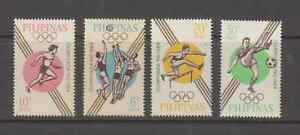 Philippine Stamps 1964 Tokyo Olympics complete set MNH, perforate,toned