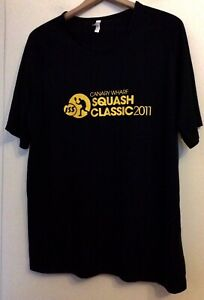 KARIBAN SPORT BLACK T SHIRT XL CANARY WHARF SQUASH CLASSIC 2011