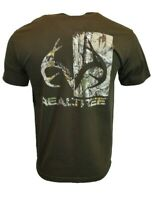 REALTREE Mens T Shirt S M XL XXL American Deer Buck Logo Hunting Camo Tee NEW
