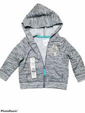 Cat & Jack Girls Size 12 Month Heather Gray Jacket Coat Unicorn Logo New W/ Tags