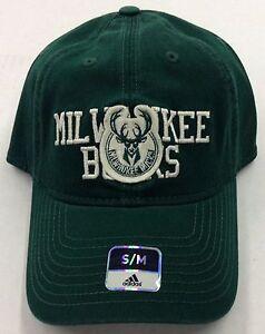 NBA Milwaukee Bucks Adidas Flex Fit Cap Hat Beanie Style #EZ94Z NEW!