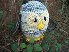 Hand-crocheted Owl Soft Toy - Ref 1004
