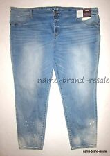 AVA & VIV NWT Womens PLUS 26W 26 4X Skinny Jegging JEANS Ripped Light Wash NEW