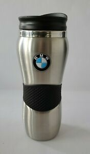 Genuine BMW Stainless Steel Brushed Travel Tumbler Coffee Mug