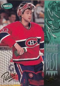 PATRICK ROY NO:312  PARKIES BEST ( GOLD ) in PARKHURST 1994-95  near mint