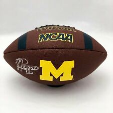 JABRILL PEPPERS MICHIGAN WOLVERINES SIGNED SUPERGRIP FOOTBALL (JSA COA)