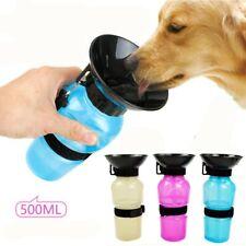 Mascota Perro Botella de agua potable Deportes Squeeze tipo Cachorro Gato portátil de viaje