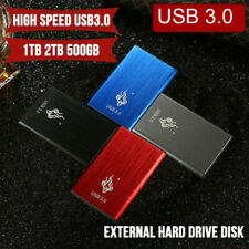 "USB 3.0 2TB 1TB Unidad de disco duro externo HDD 2.5 ""Apto para PC Windows"