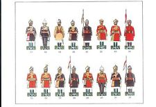 CAVALERIE DE L'ARMEE DES INDES - Indian army - Planches Offset - 7 Planches