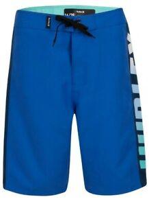 """HURLEY BOYS FASTLANE SIGNAL BLUE BOARDSHORTS 984441-U9H 9""""INSEAM 10/25 NWT"""