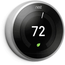 Google Nest 3rd Generation Learning Stainless Steel Thermostat: NO BASE
