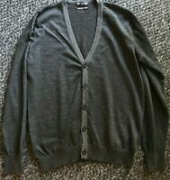 Marks & Spencer Autograph Mens Dark Grey Cardigan Extrafine Merino Size Medium M