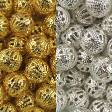 Silver Plated Alloy Metallic Jewellery Beads