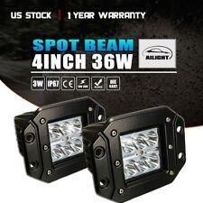 4inch 36W LED Cube Pods Work Light Flush Mount Fog Light Offroad Truck Jeep ATV