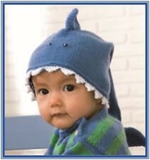 CA009 KNITTING PATTERN BABY SHARK HAT DO DO DE DO DO DO SIZES 38 OR 42CM