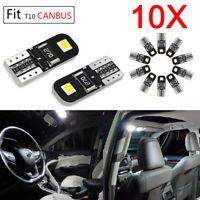 10pcs T10 W5W Car LED Bulbs CANBUS Error Free 2-SMD Bright 194 2825 168
