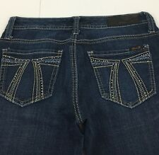 Seven 7 Flare Stretch Dark Wash Denim Blue Jeans Women's 27 Actual: 29x33