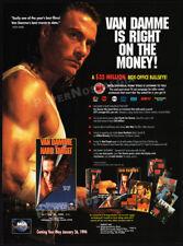 HARD TARGET__Original 1993 Trade print AD / video promo__JEAN-CLAUDE VAN DAMME