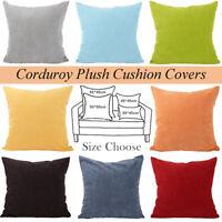 "Hot Vintage Home Decor Corduroy Pillow Case Sofa Waist Throw Cushion Cover 26"""