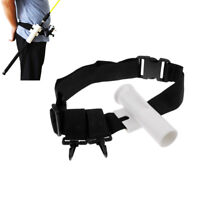Adjustable Waist Fishing Rod Holder Fishing Belt Rod Tube Pole Holster