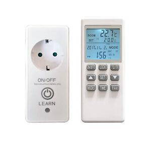 VIESTA Funk Thermostat + Timer-Fernbedienung für Infrarotheizung, Elektroheizung