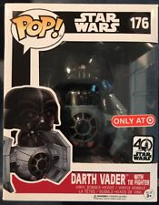 Star Wars 40th Funko Pop Darth Vader With Tie Fighter TARGET EXCLUSIVE