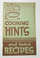 1937 Cooking Hints Vintage Recipes Cookbook Proter & Gamble New Crisco Promotion