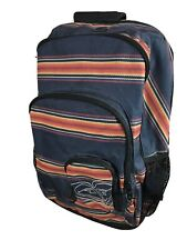 ROXY Navy Laptop Backpack Book Bag Tribal Southwestern Striped Boho Ladies