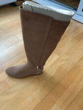 Ted Baker Lykla Suede Knee High Boots Brown Tan UK 7 EU 40