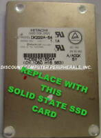 "SSD HITACHI DK222A-54 Replace with this SSD 1GB 2.5"" 44 PIN IDE SSD Card"