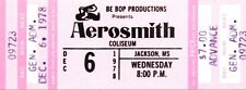 Aerosmith - Three Concert Tickets for shows at Jackson Coliseum 1976 & 1978.
