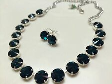 Swarovski Crystal Elements Necklace Earring 12mm Emerald Green Jewelry Set New