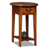 Small Round End Table Storage Drawer Side Shelf Accent Living Room Furniture NEW