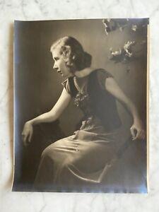 H. R. Cremer Art Deco Women Side View Fine Art Gelatin Silver Photo~Portrait