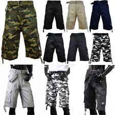 PRO CLUB Mens Casual Twill CARGO Shorts Tactical Combat BDU 100% Cotton 30~54