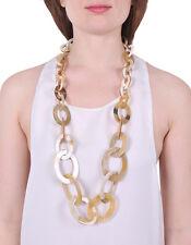 BUFFALO HORN LONG CHAIN NECKLACE FOR WOMEN FASHION JEWELRY HANDMADE ORGANIC 0354