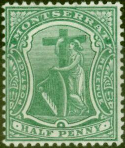 Montserrat 1910 1/2d Deep Green SG35 Fine Lightly Mtd Mint