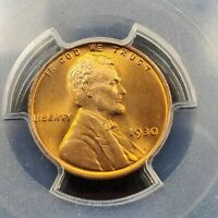 1930 P Lincoln Wheat Cent Penny Coin PCGS MS66 RD RED Gem BU CERTIFIED
