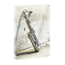 Saxophon - Bild auf  Leinwand Poster Wandbild Kunstdruck XXL 100 cm*65 cm 104 h