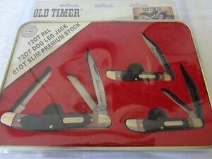 NEW Schrade Old Timer Limited Edition Gift Set 3PC Pocket Knife SET SEALED 2019