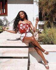 Johanna Ortiz x H&M top Tie-hem Satin Blouse