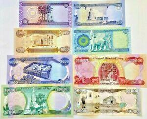 91,800 IRAQI DINARS - UNCIRCULATED BANKNOTE COMPLETE SET - EVERY IRAQ DINAR BILL