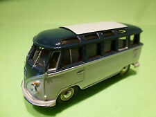 MINICHAMPS VW VOLKSWAGEN T1 COMBI - SAMBA BUS  BLUE 1:43 - EXCELLENT