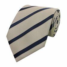 Krawatte 8cm beige gestreift anthrazit Glanz Binder FabioFarini Schlips Streifen