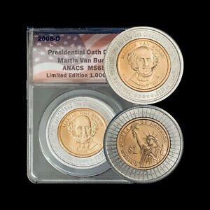 UNITED STATES. 2008, Dollar, D - ANACS MS65 - Presidential, Van Buren, RARE