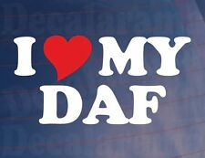 I LOVE/HEART MY DAF Novelty Vinyl Sticker/Decal for DAF Truck/Lorry/Window