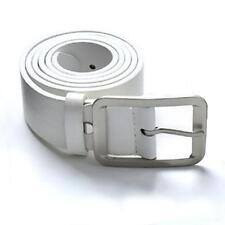 Casual Leather Belt Man Metal Pin Buckle Vintage Mens belts for Pants White TR